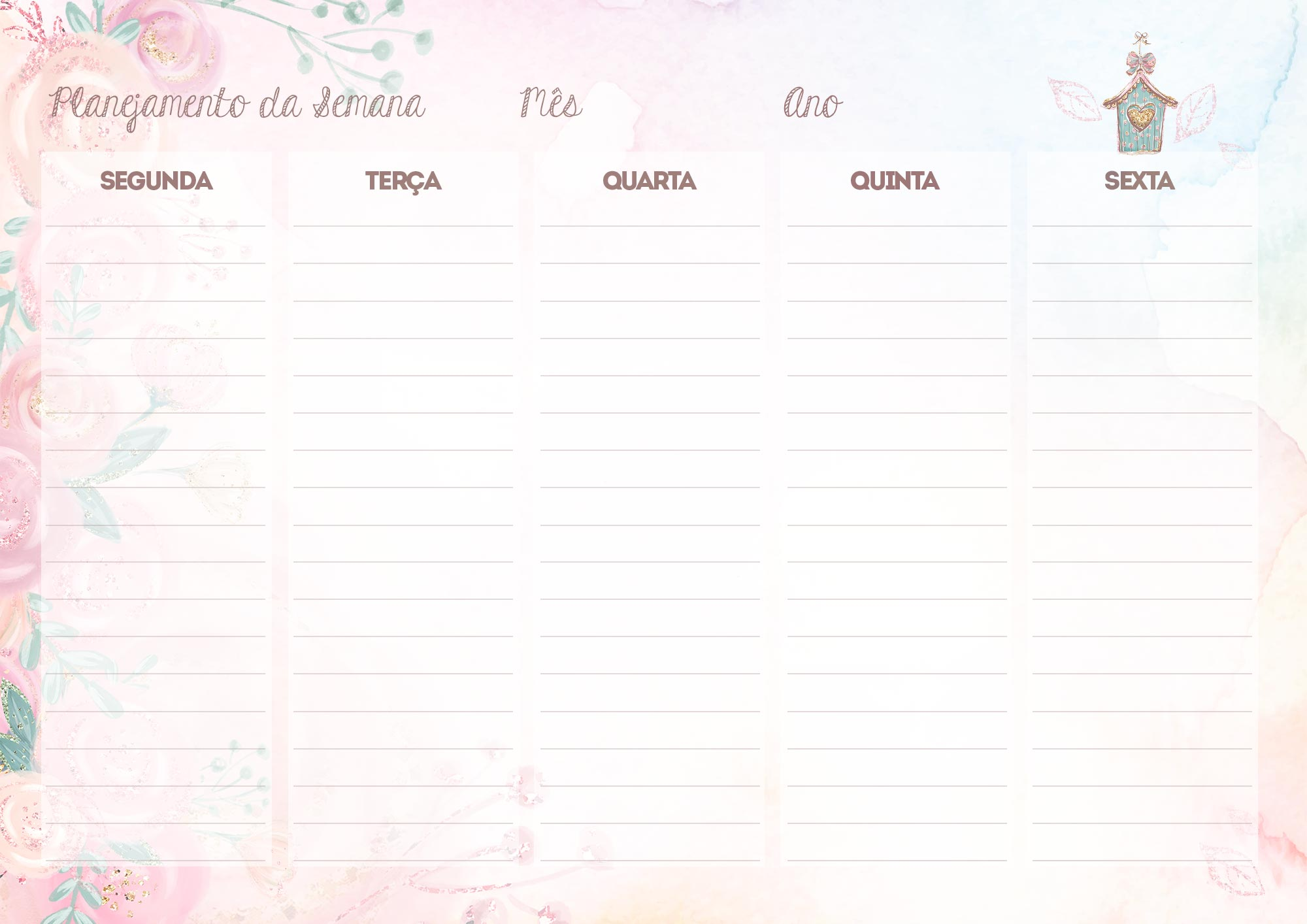 Planejamento Semanal para Professores Corujinha