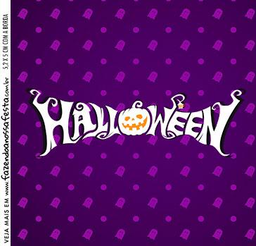 Rotulo Caixa Acrilica Halloween