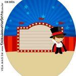 Rotulo Oval Circo Menino