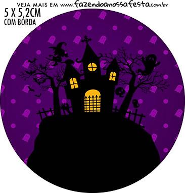Rotulo Redondo Halloween