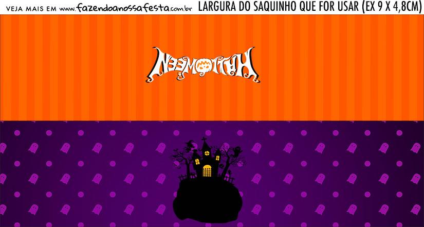 Rotulo Saquinho de Bala Halloween
