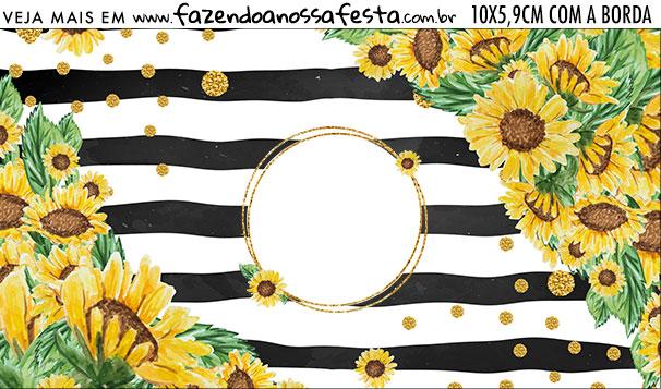 Rotulo Squeezer Kit Festa Girassol