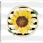Rotulo para Caixa de Acrilico Girassol