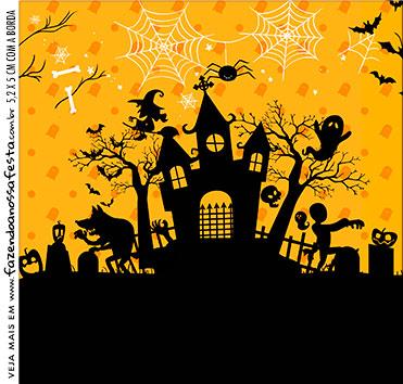 Rotulo para Caixa de Acrilico Halloween