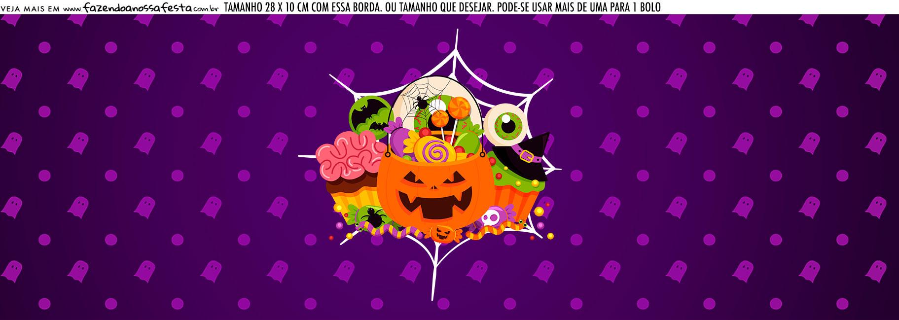 Saia Lateral de Bolo Halloween