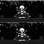 Saia de bolo Halloween Esqueleto