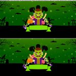 Saia de bolo Halloween Frank