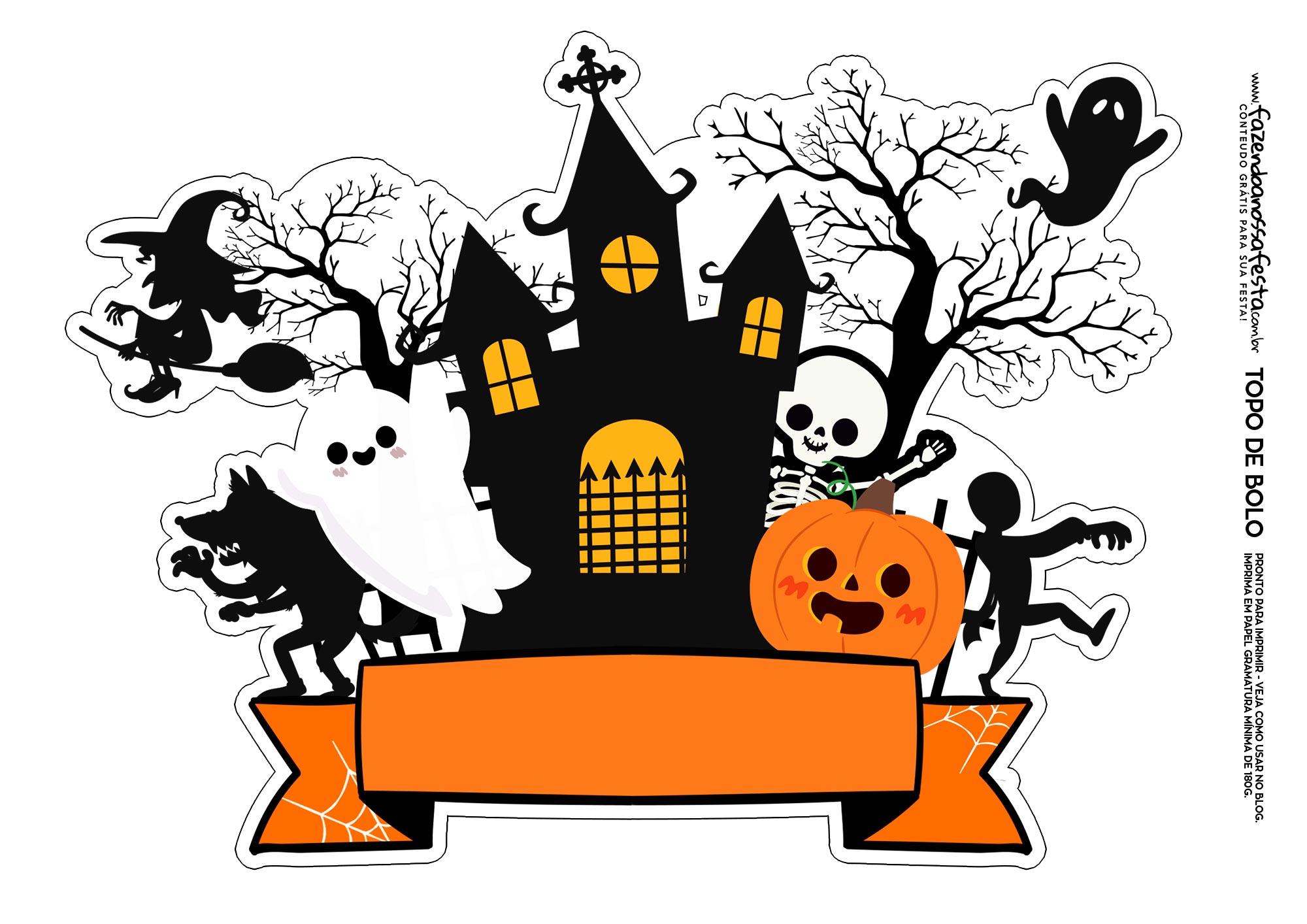 Topo de bolo Halloween 1