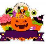 Topo de bolo Halloween Abobora 7