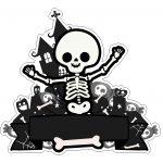 Topo de bolo Halloween Esqueleto 3