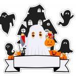 Topo de bolo Halloween Fantasma 6