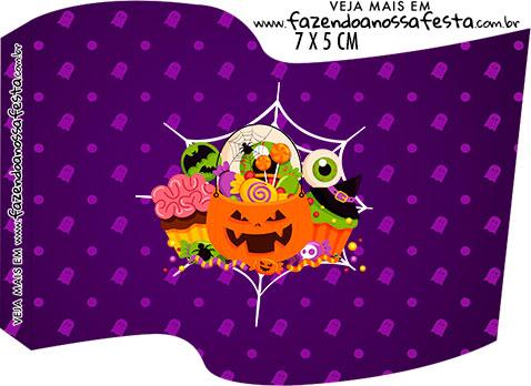 Topper Bandeirinha Halloween