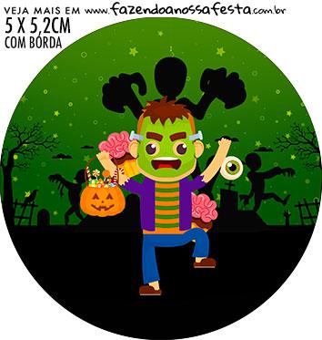 adesivo mini baleiro Halloween
