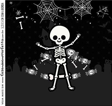rotulo adesivo caixa de acrilico Halloween