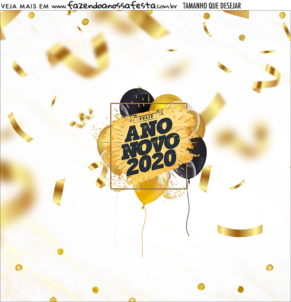 Adesivo Ano Novo 2020
