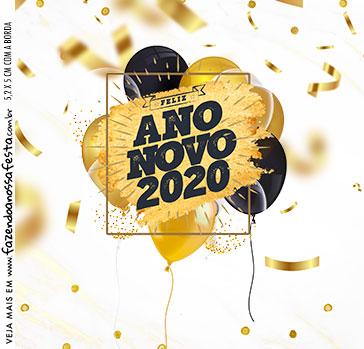 Adesivo Caixa Acrilica Ano Novo 2020