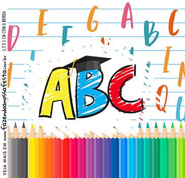 Adesivo Caixa Acrilica Formatura ABC