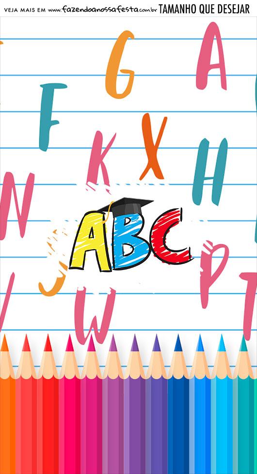 Adesivo Para Imprimir Formatura ABC