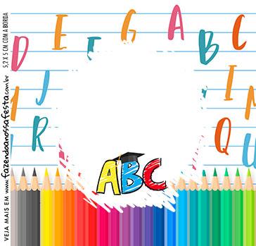 Adesivo Quadrado Formatura ABC
