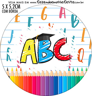 Adesivo redondo Formatura ABC