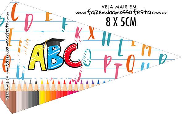 Bandeirinha Sanduiche para imprimir Formatura ABC