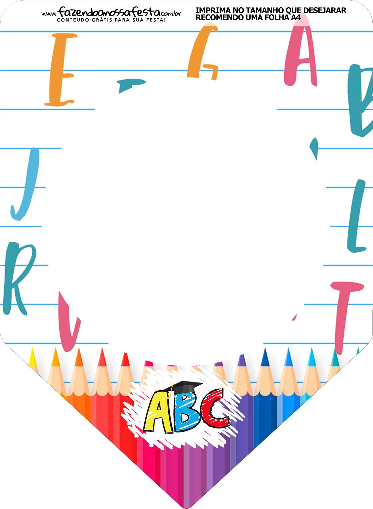 Bandeirinha Varalzinho Formatura ABC