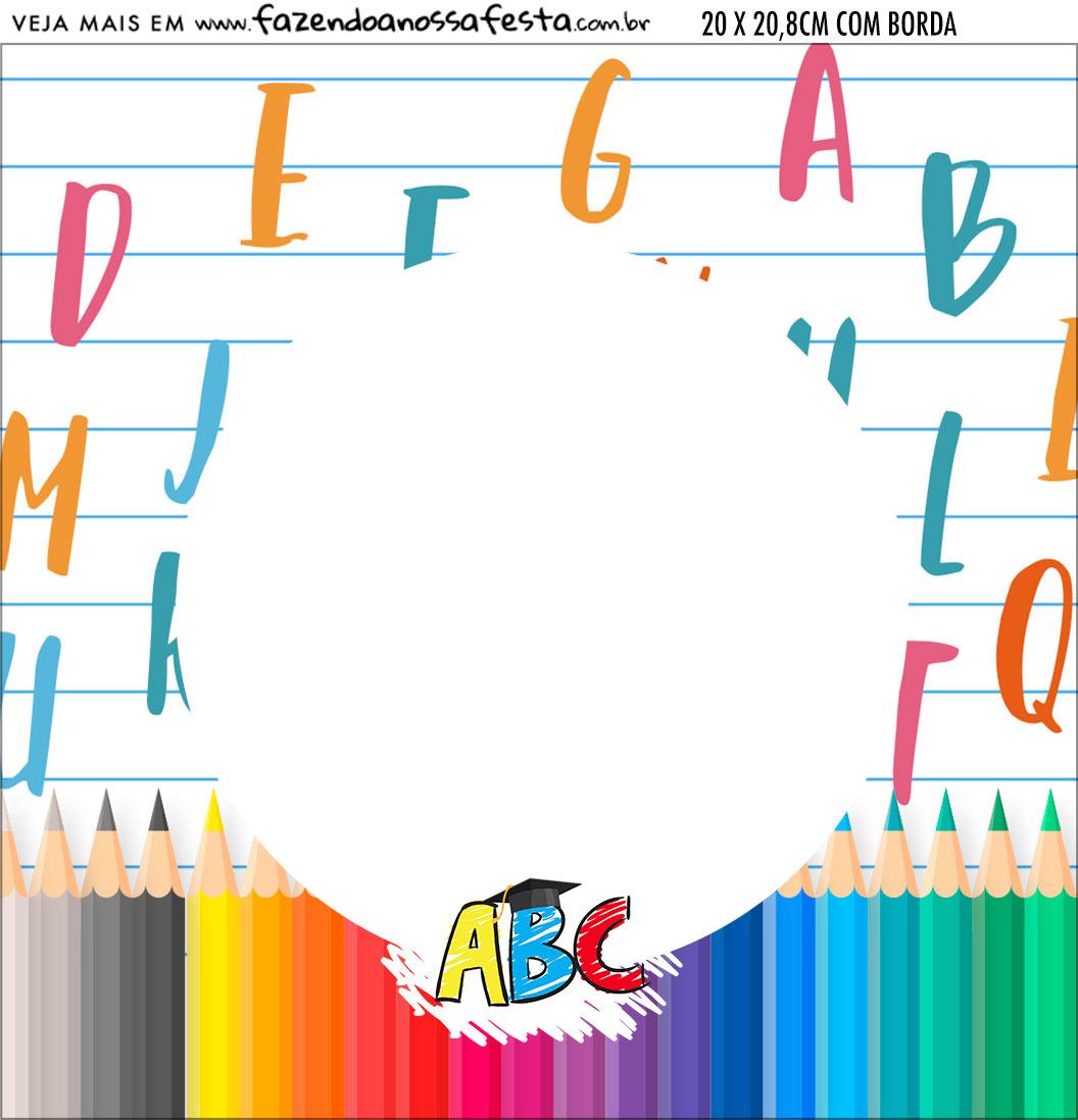 Bandeirola personalizada Formatura ABC