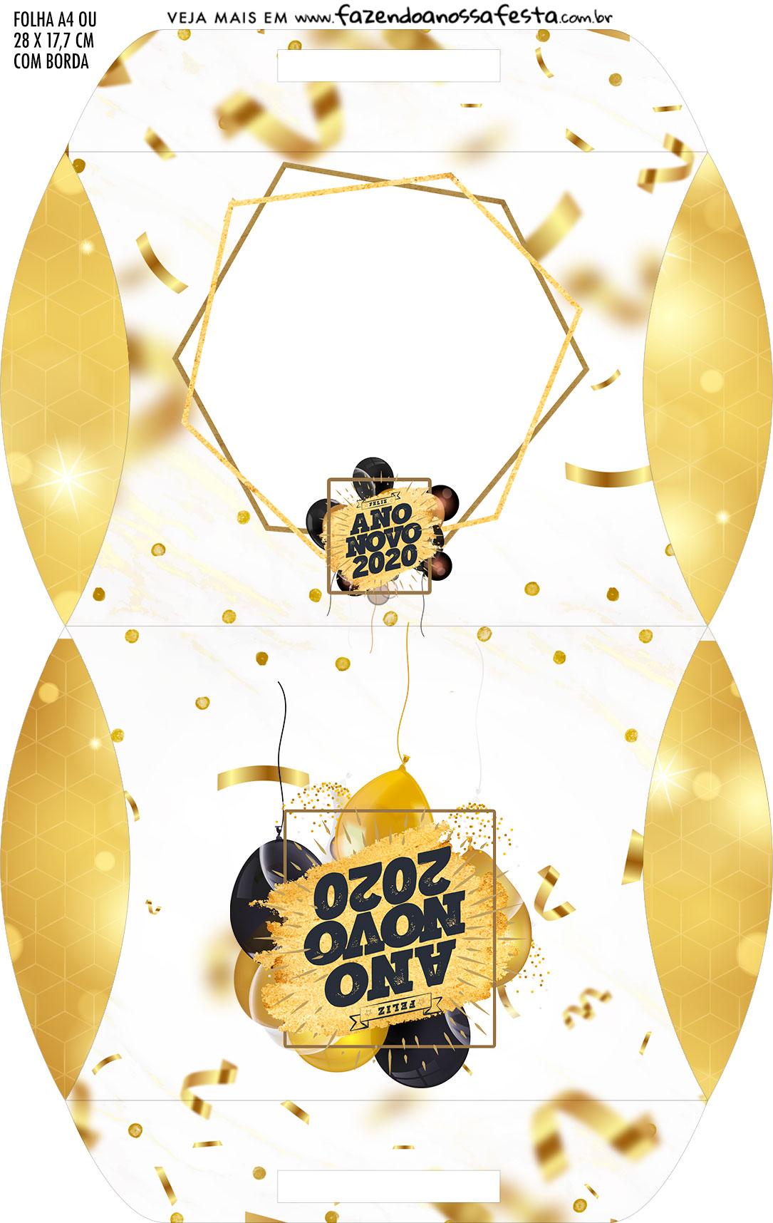 Caixa Almofada bolsinha Ano Novo 2020