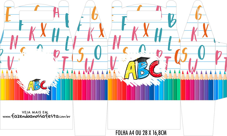 Caixa Maleta Surpresa Formatura ABC