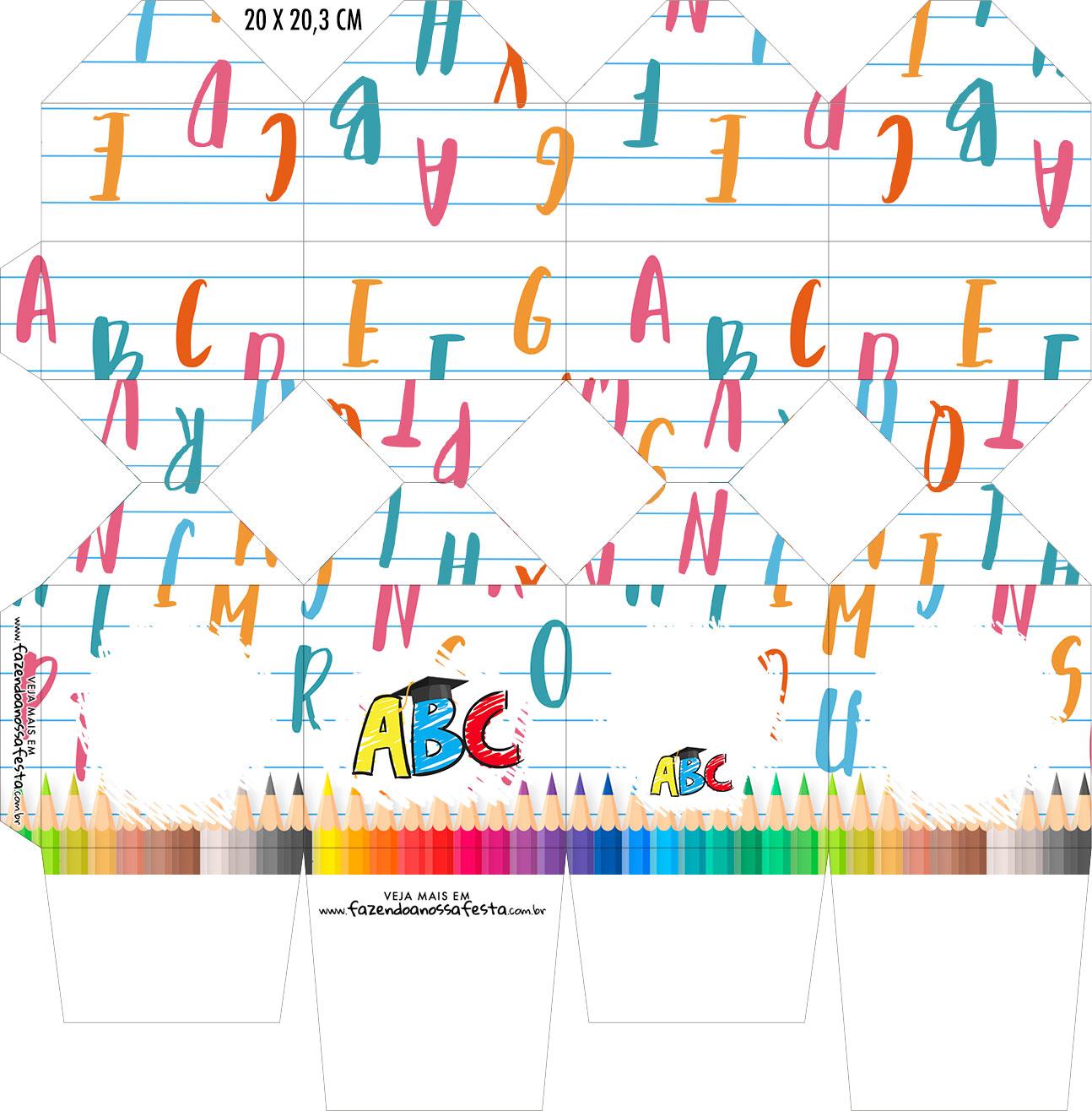 Caixa Meia Bala Formatura ABC