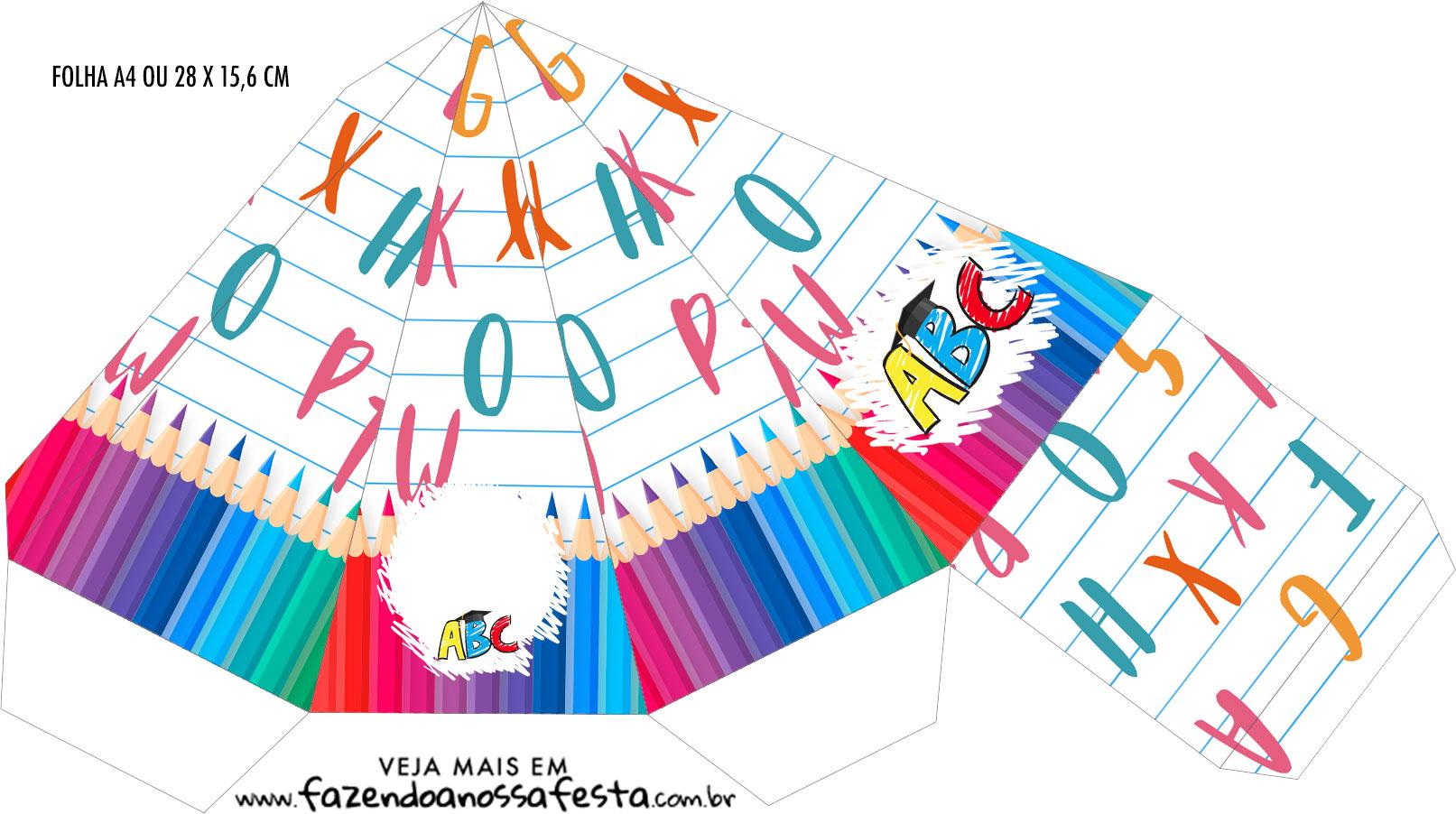 Caixa Piramide Formatura ABC