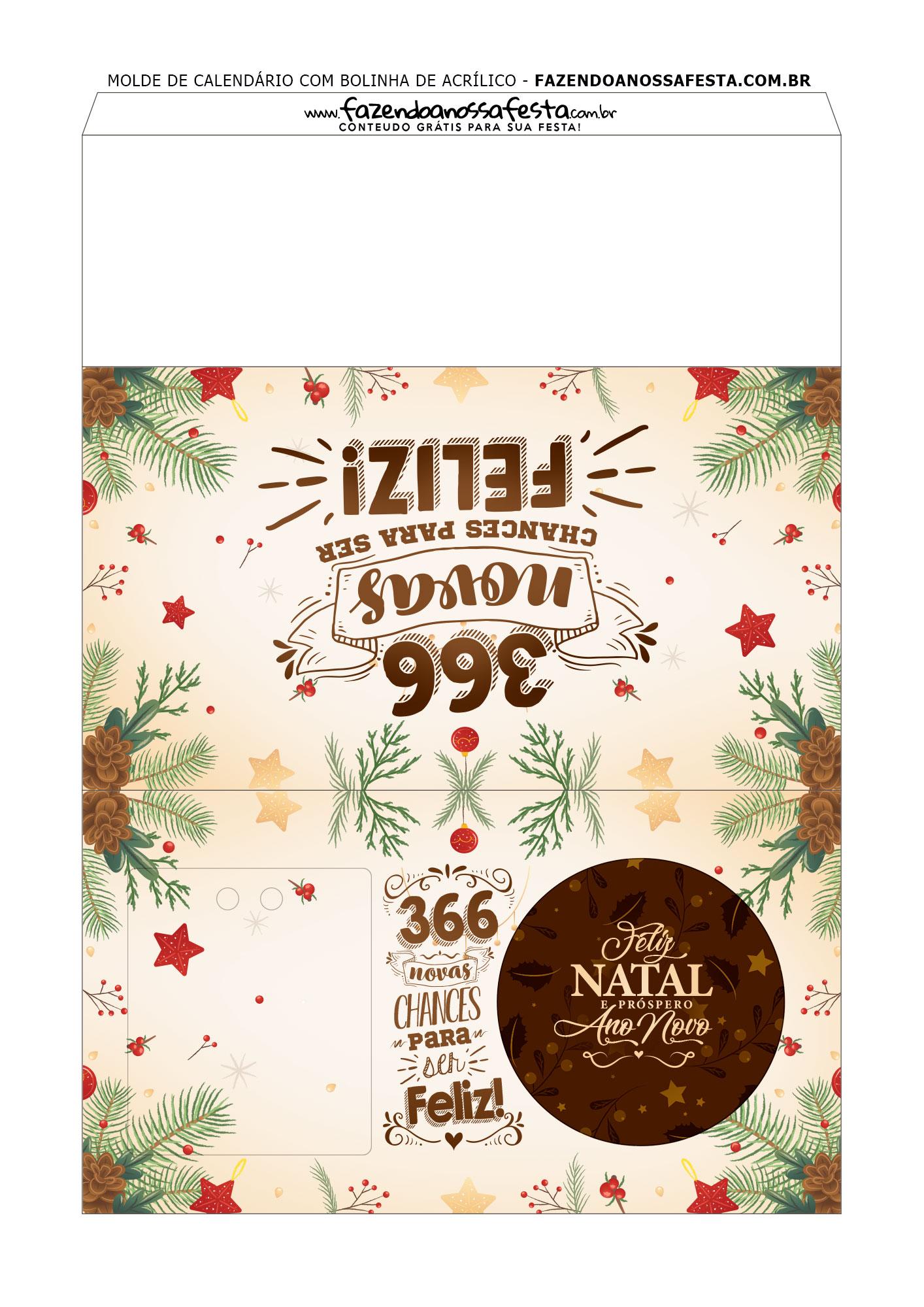 Bolinhas de Natal com calendário Personalizado 3