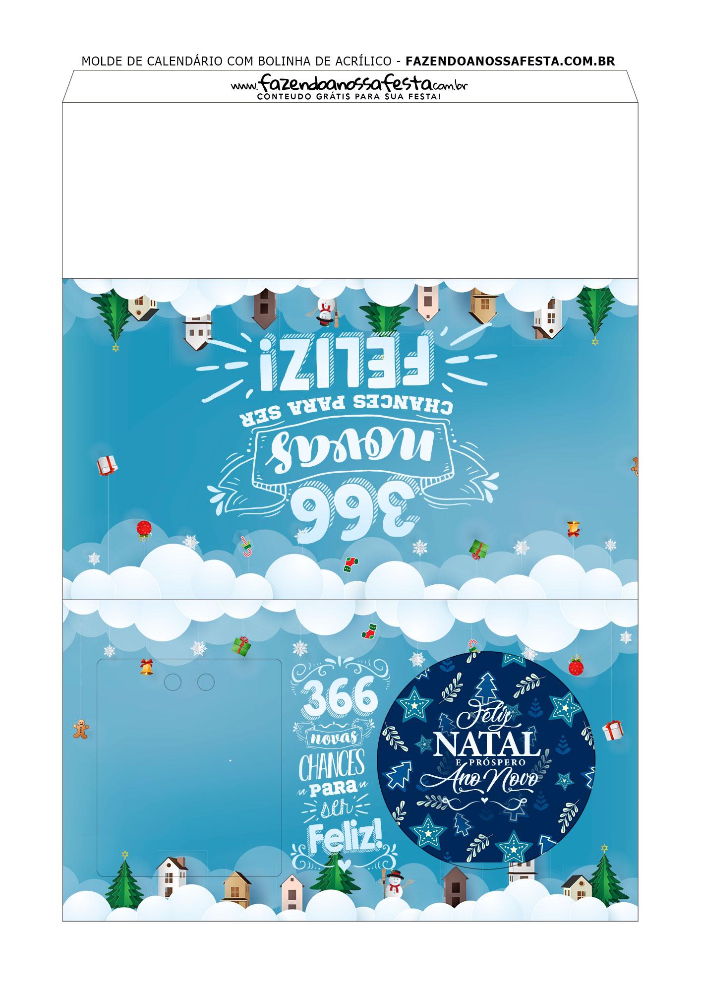 Bolinhas de Natal com calendário Personalizado 2