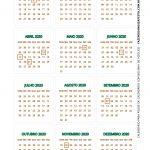 Calendario 2020 de mesa 10