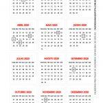 Calendario 2020 de mesa 2