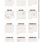 Calendario 2020 de mesa 3