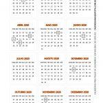 Calendario 2020 de mesa 6