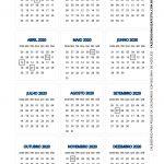 Calendario 2020 de mesa 7