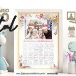 Calendario 2020 personalizado com foto para Natal