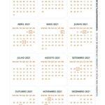Calendario 2021 com bolinha de Natal 2