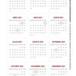 Calendario 2021 com bolinha de Natal branco e vermelho 2
