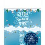 Calendario 2021 com bolinha de natal azul