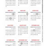 Calendario 2021 de Mesa 2