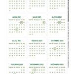 Calendario 2021 de mesa Natal 2