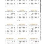 Calendario de Mesa 2021 Natal amarelo 2