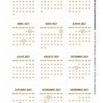 Calendario de Mesa 2021 Natal biscoito 2