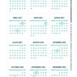 Calendario de Mesa 2021 Natal boneco de neve 2