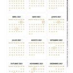 Calendario de Mesa 2021 Natal flocos neve 2