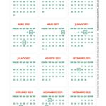 Calendario de Mesa 2021 Natal papai noel verde 2