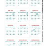 Calendario de Mesa 2021 Natal vermelho e verde 2